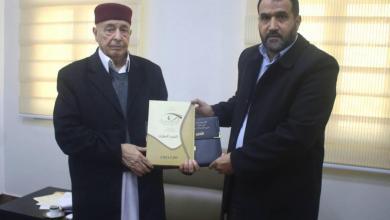 المستشار عقيلة صالح ورئيس هيئة الرقابة الإدارية عبدالسلام الحاسي