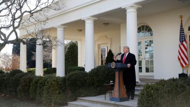 صورة ترامب يستعد لخطاب حالة الاتحاد