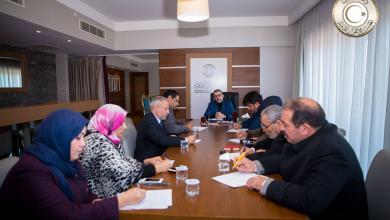 اجتماع خالد المشري مع اللجنة المكلفة بالتحضير للملتقى الجامع- طرابلس