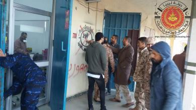 صورة حملة أمنية لإزالة أختام داعش في سرت