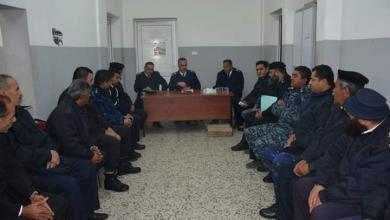اجتماع العميدعبدالناصر الطيف مع رؤساء أقسام مراكز الشرطة والوحدات - مقر وحدة مرور السواني