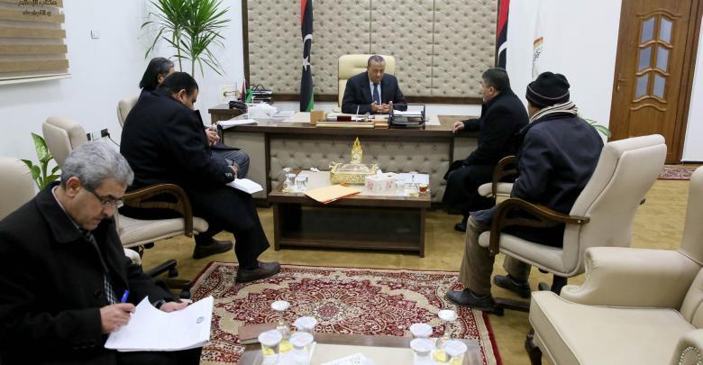 رئيس الحكومة المؤقتة عبدالله الثني