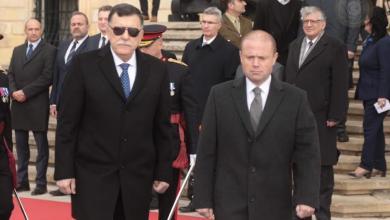 فائز السراج ورئيس وزراء مالطا جوزيف موسكات