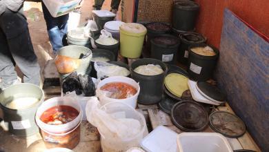صورة ضبط مخالفات غذائية خطيرة في بنغازي (صور)