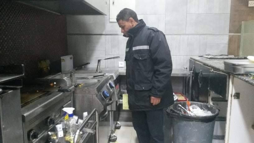 جولة دوريات الحرس البلدي بنغازي على المطاعم