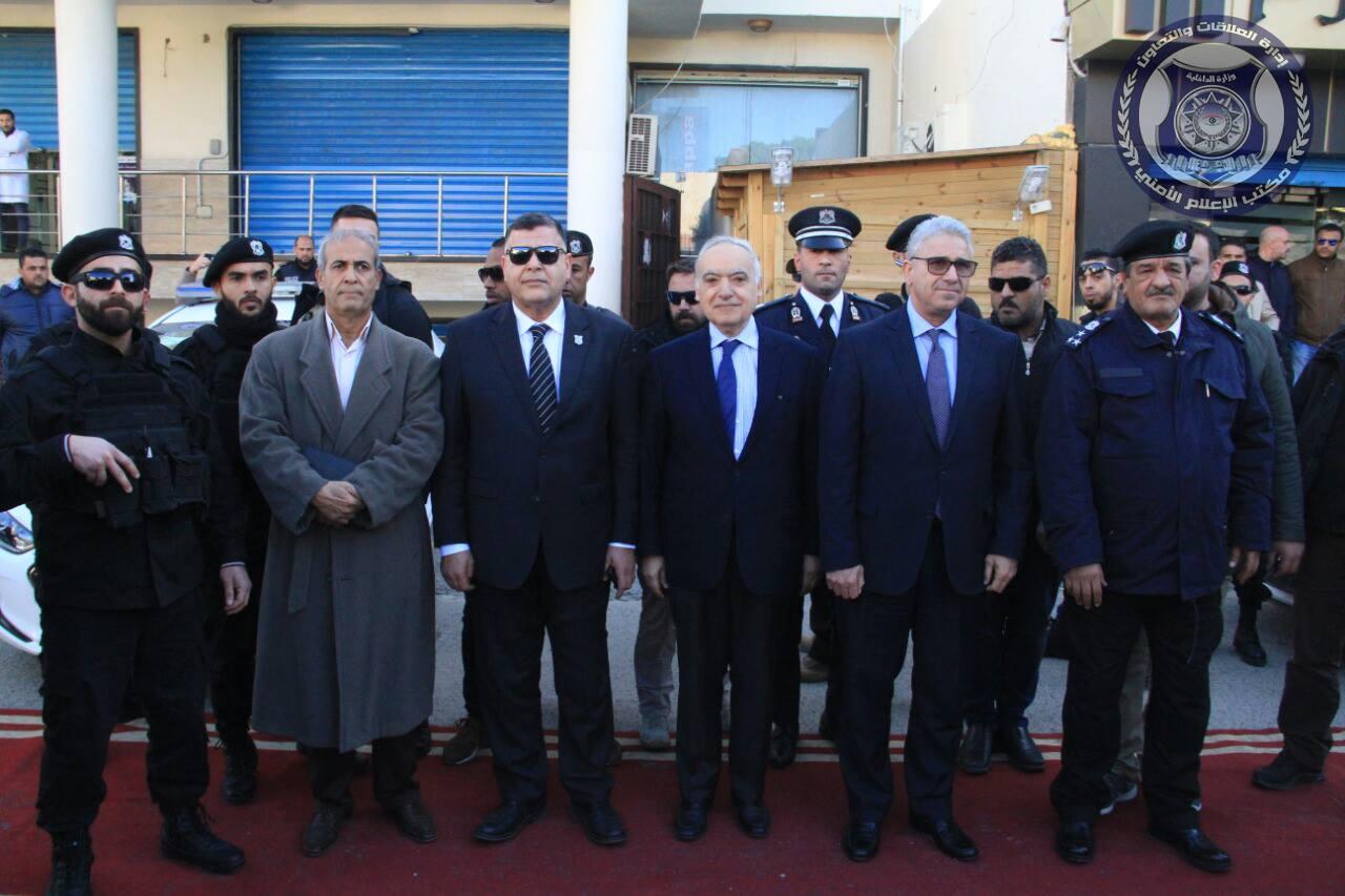 فتحي باشاغا أثناء افتتاح مركز شرطة - حي الأندلس ،طرابلس