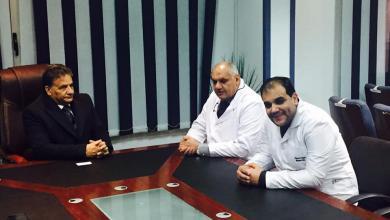صورة صحة المؤقتة تبحث سبل تبادل الخبرات الطبية مع مصر