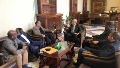 اجتماع الصديق الكبير مع أعضاء من مجلس النواب ونائب رئيس المجلس الرئاسي عبد السلام كاجمان