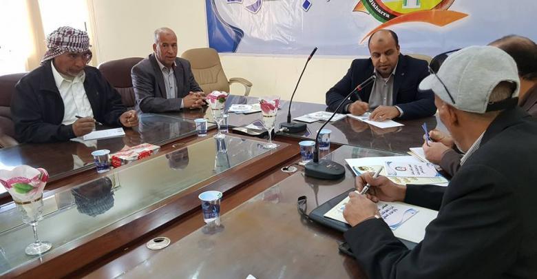 بلدية اجخرة تجتمع مع اللجنة السياحية