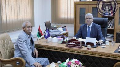 وزير الداخلية المفوض يستقبل رئيس المجلس المحلي تاورغاء
