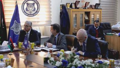 وزير الداخلية المفوض يستقبل وفد إيطالي رفيع المستوي
