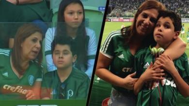 Photo of أم برازيلية تشرح المباريات لابنها الضرير