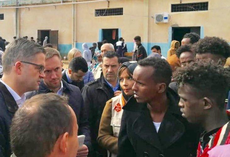 السفير الألماني ينتقد أوضاع المهاجرين في ليبيا