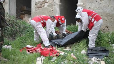 صورة الهلال الأحمر ينتشل 4 جثث في درنة