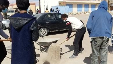 حملة نظافة بعد انتهاء عمليات العسكرية - مرزق