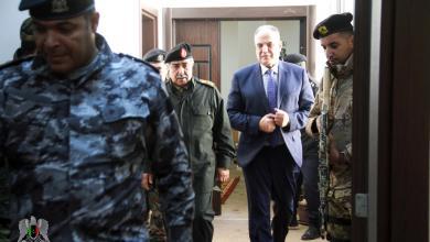 رئيس الأركان العامة للجيش الوطني الفريق عبدالرازق الناظوري مع إبراهيم بوشناف