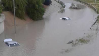 غرق الطرق جراء مياه الأمطار - طرابلس