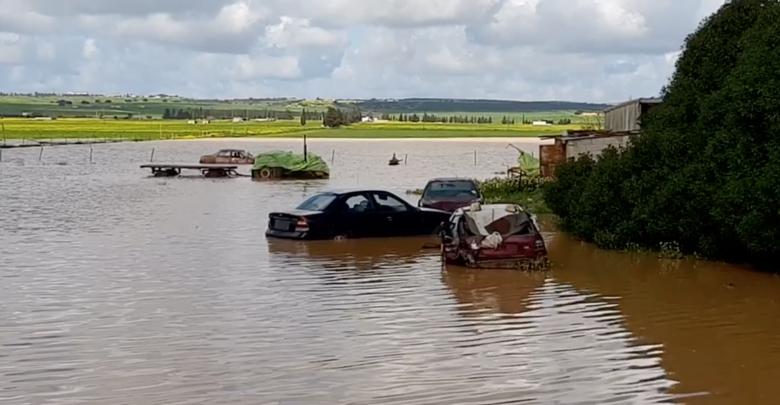غرق المزارع نتيجة هطول الامطار -المرج