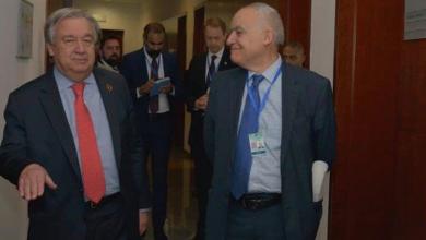 غسان سلامة وأمين عام الأمم المتحدة أنطونيو غوتيريش