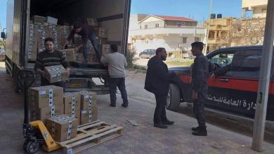 قافلة أدوية ومعدات لمستشفى الهريش - درنة