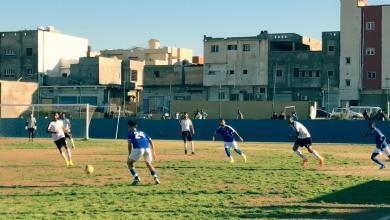مباراة الملعب الليبي والشرطة بدوري الدرجة الاولى