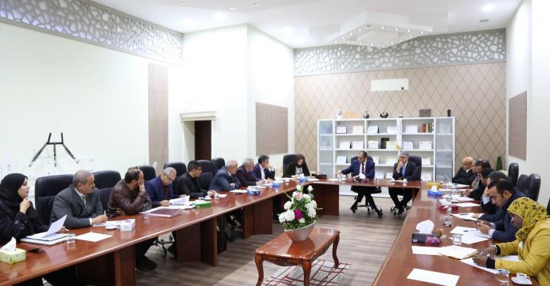 وزير التعليم المفوض بحكومة الوفاق عثمان عبد الجليل مع وفد من منطقة الزاوية الكبرى