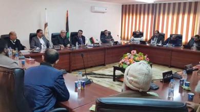 اجتماع أمني داخل مقر جامعة اجدابيا