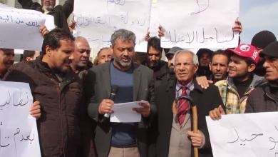 اعتصام نشطاء طبرق أمام مقر البرلمان