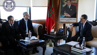 لقاء فتحي باشاغا مع رئيس الحكومة المغربية سعد الدين العثماني
