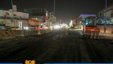 بدء صيانة الطرق الرئيسية في بنغازي