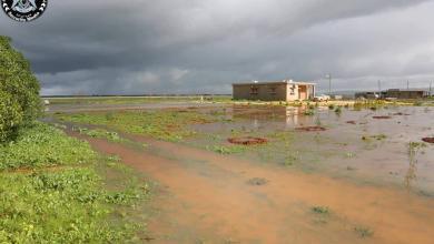 صورة مياه الأمطار تُغرِق مزارع في المرج (صور)