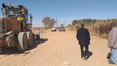 """Photo of بلدي """"الكفرة"""" يتعاقد لتنفيذ طريق جديد"""