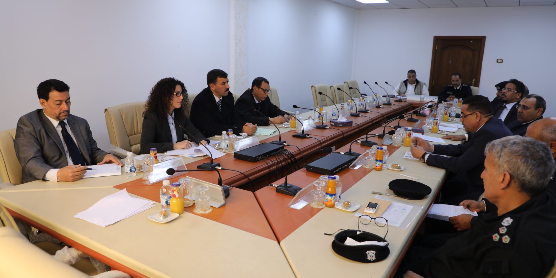 اجتماع وفد من وزراة العدل لتقييم احتياجات التدريب الخاصة بمدراء السجون في ليبيا