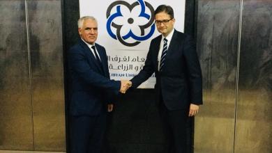 """محمد الرعيض و السفير الألماني لدى ليبيا """"أوليفر أوفيتشا"""""""