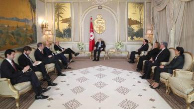 السبسي للودريان داعمون للخارطة الأممية لحل أزمة ليبيا