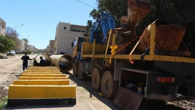 انطلاق حملة صيانة في شوارع بنغازي