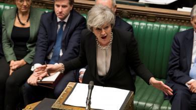 تيريزا ماي أمام البرلمان البريطاني