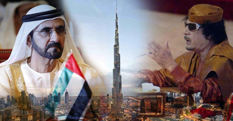 معمر القذافي - دبي - محمد بن راشد آل مكتوم