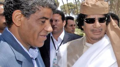 معمر القذافي وعبدالله السنوسي
