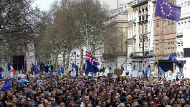 مليونية في لندن رافضة لاتفاق بريكست