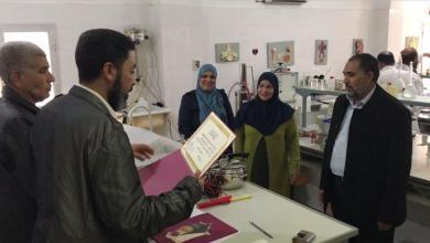 لجنة من تعليم الوفاق تزور معامل مدارس صبراتة