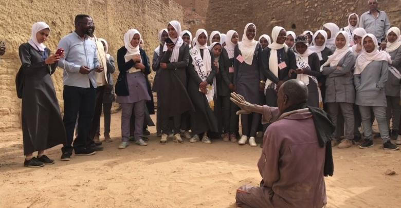 طالبات ثانوية غات وطلابها في رحلة إلى مدينة غات القديمة