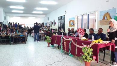 مدرسة الفضيل بوعمر في مدينة أوجلة تحتفل بعيد الأم