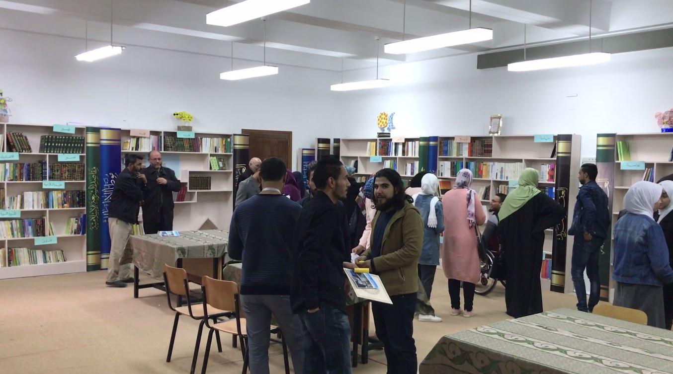 افتتاح مكتبة جمان العرب في ثانوية القدس - غريان