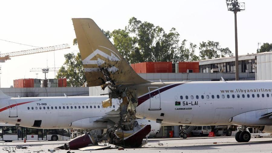 الطائرات المعطوبة من مطار طرابلس