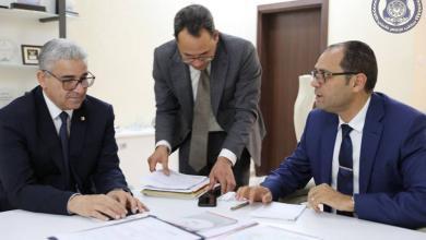 اجتماع فتحي باشاغا وعثمان عبد الجليل وعادل جمعة