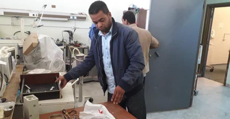 قسم الصيانة بمركز سبها الطبي يبدأ مهامه قريبا