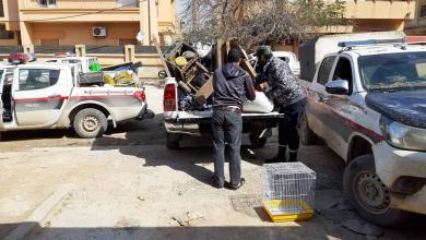 صورة ضبط عمليات تزوير أرقام وطنية في بنغازي