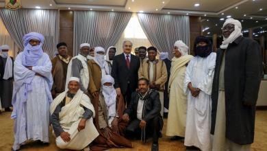 زيارة مشايخ وأعيان وحكماء قبيلة الطوارق المشير خليفة حفتر - الرجمة