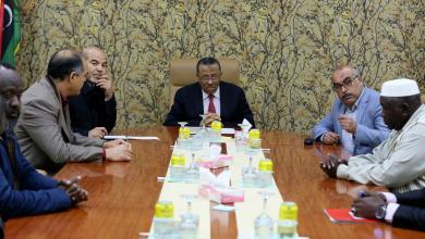 اجتماع رئيس الحكومة المؤقتة عبدالله الثني مع أعيان ومشائخ ومؤسسات المجتمع المدني - مرزق